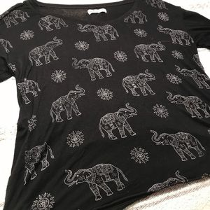 Hollister elephant shirt